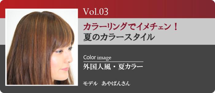 Vol.3夏カラースタイル