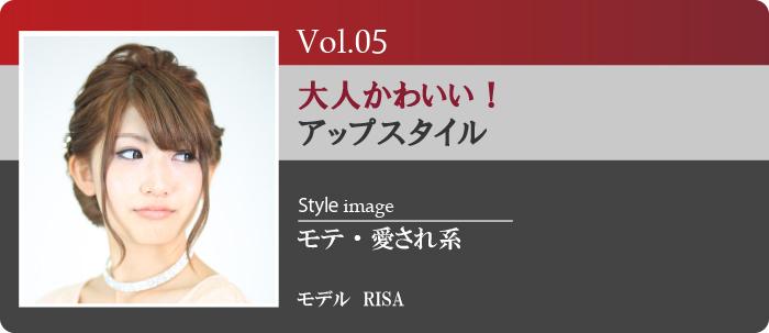 Vol.5大人かわいいアップスタイル