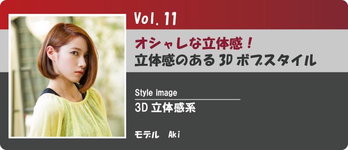Vol.11立体感のある3Dボブスタイル